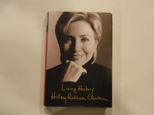 "Bill & Hillary Clinton Signed ""living History"" Book 2016 42nd President Jsa Loa"