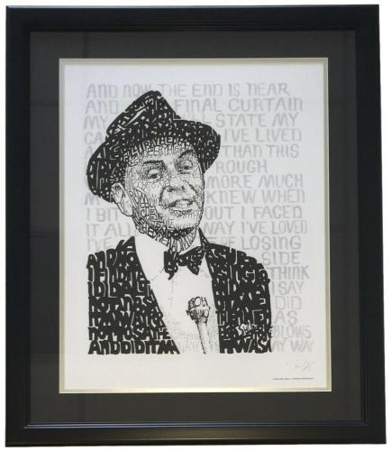 Frank Sinatra Framed 16x20 Word Art Photo