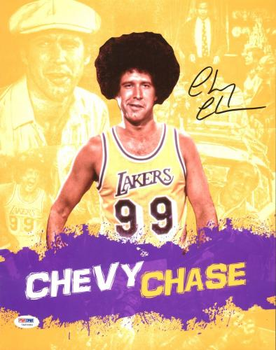 Chevy Chase Signed 11X14 Movie Collage Photo Autographed PSA/DNA ITP A