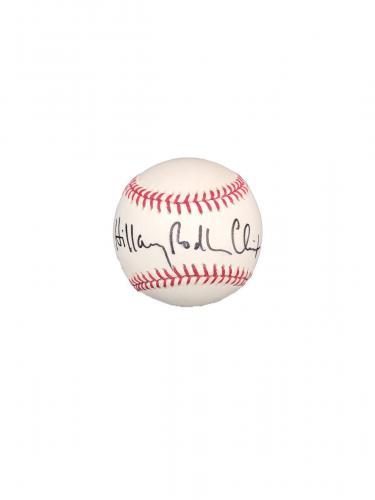 Hillary Rodham Clinton Official Major League Signed Baseball JSA D43963