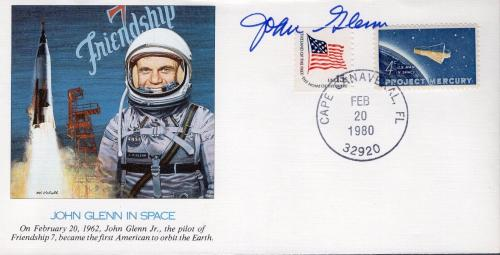 John Glenn Hand Signed John Glenn In Space First Day Cover        Rare       Jsa