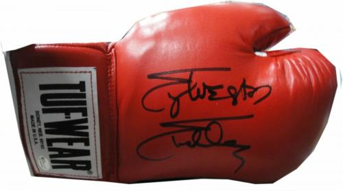 Sylvester Stallone Hand Signed Autographed Red Tuf-Wear Boxing Glove OA COA