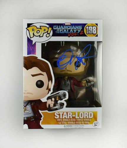Chris Pratt Endgame Guardians Galaxy Avengers Autographed Signed Funko Pop JSA