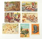 (7) Vintage Trading Cards ^ Post Roy Rogers Hopalong Cassidy Challenge of Yukon