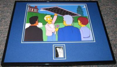 Ed Begley Jr Simpsons Signed Framed 11x14 Photo Display