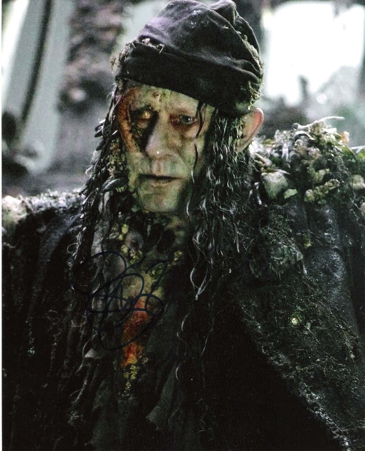 """STELLAN SKARSGARD """"PIRATES of the CARIBBEAN"""" as BOOTSTRAP BILL-Signed 8x10 Color Photo"""