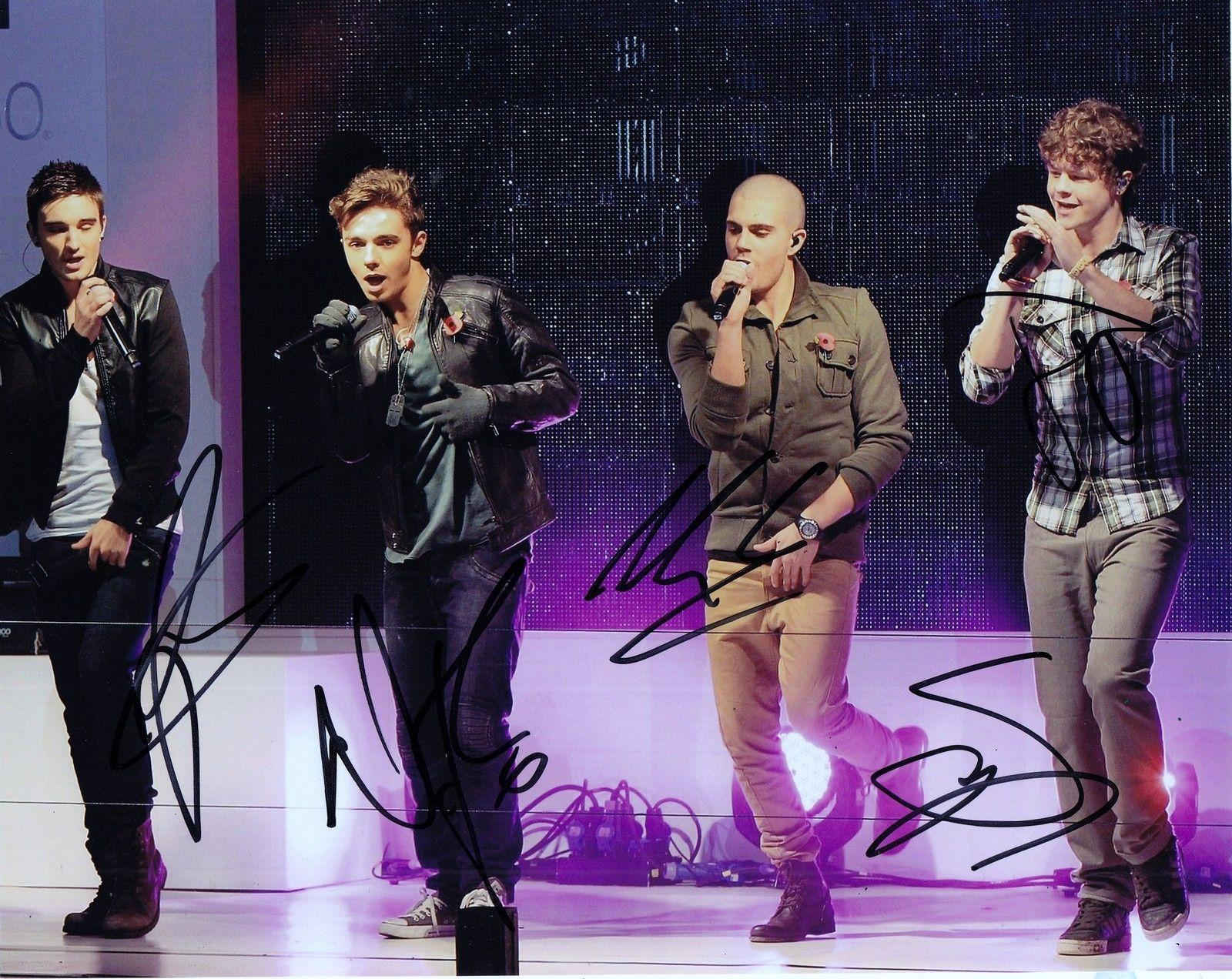 The Wanted Group Signed 8x10 Photo W/COA Max Nathan Tom Siva Jay #4