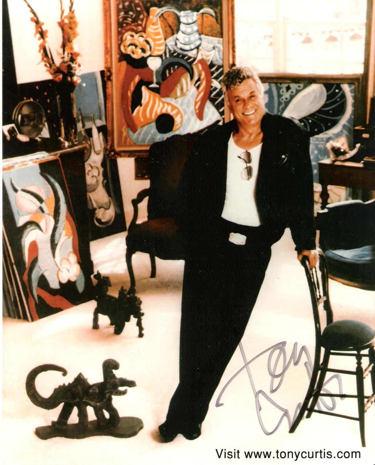 Tony Curtis Signed Photo - Was in Over 100 Films Passed Away 2010 8x10 Color