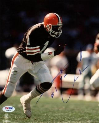 Browns Michael Jackson Signed 8X10 Photo Autographed PSA/DNA #W24732