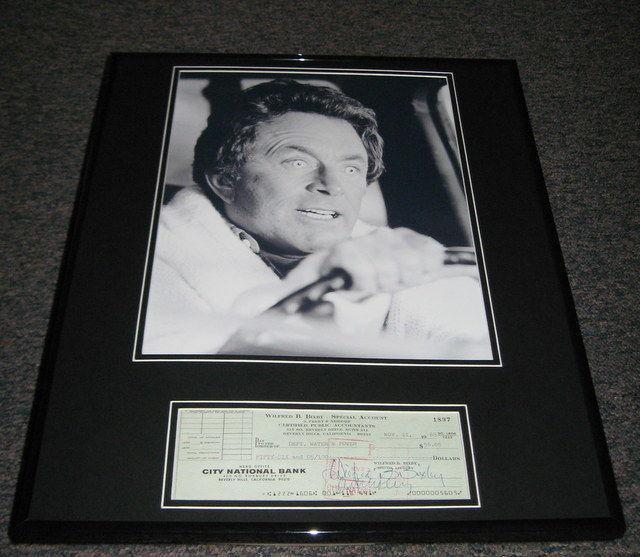 Bill Bixby Hulk Signed Framed 16x20 Check & Poster Photo Display JSA