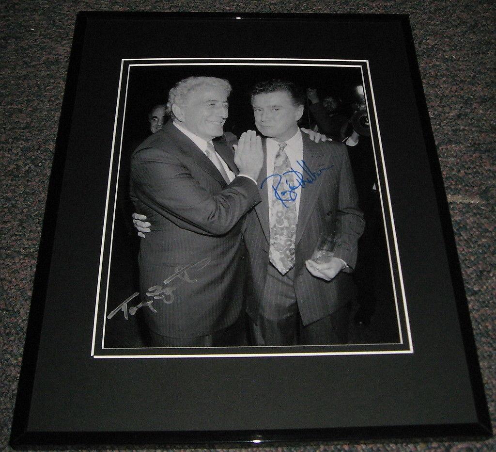 Tony Bennett Signed Picture - & Regis Philbin Dual Framed 8x10