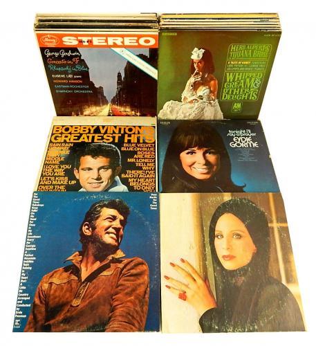 (75) 1950's-1970's Vinyl LP Records ^ Herb Alpert Streisand Dean Martin Fountain