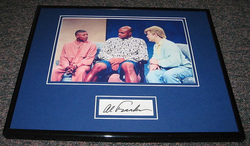 Signed Charles Barkley Photograph - Al Franken SNL Framed 11x14 Display w JSA