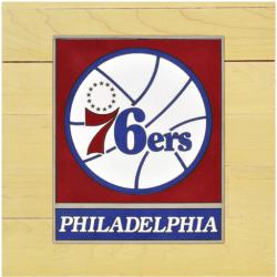 "NBA Philadelphia 76ers 12"" x 12"" Logo Floor Piece"