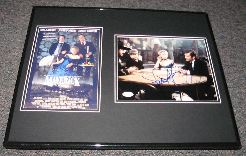 Autographed Mel Gibson Photograph - Maverick Cast Framed 16x20 Set JSA & Jodie Foster RARE