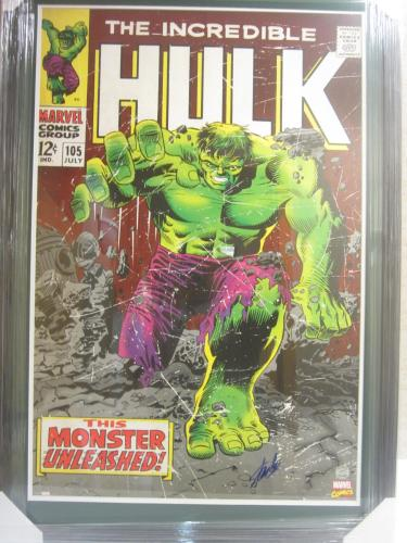 Stan Lee Signed Autographed Incredible Hulk Framed Poster Steiner Certified CAS