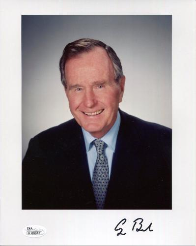 GEORGE BUSH HAND SIGNED 8x10 COLOR PHOTO        AWESOME+VERY RARE        JSA
