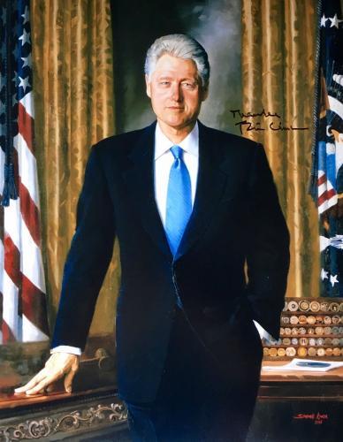 Bill Clinton (42nd President) 11x14 Signed Photo JSA Z07743