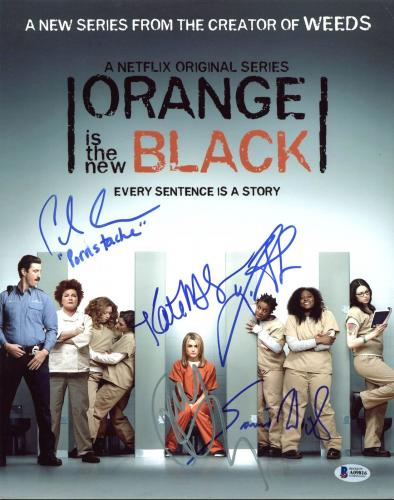 Orange Is The New Black (Taylor Schiling +4) Signed 11X14 Photo BAS #A09816