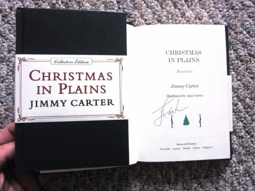 Jimmy Carter signed Book Christmas in Plains Collectors Ed 1st Print Beckett BAS