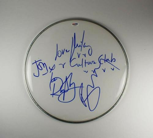Culture Club Band Autographed Signed Drumhead Certified Authentic PSA/DNA COA