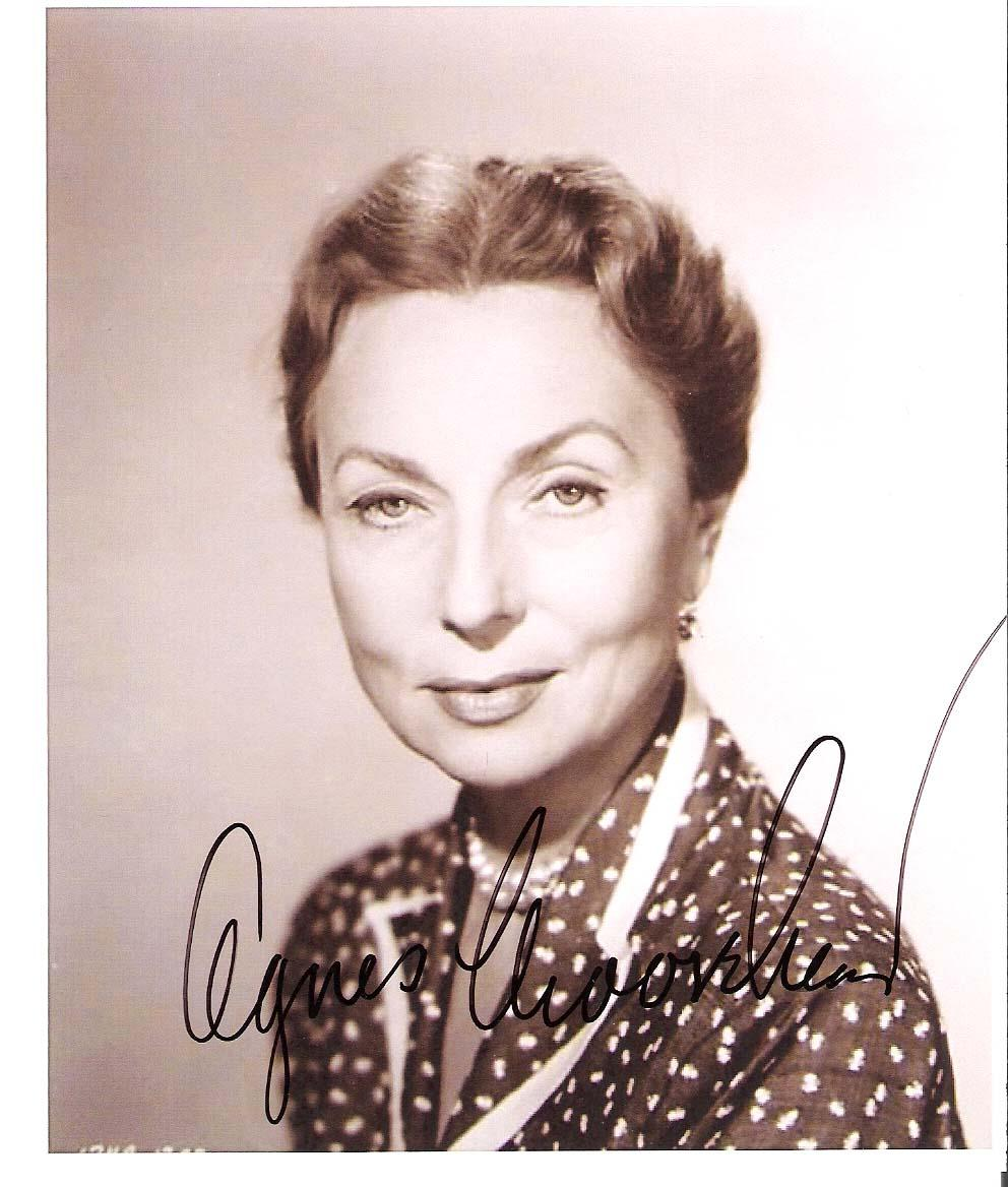 "AGNES MOOREHEAD - In more than 70 Films Beginning with 1941 Film ""CITIZEN KANE"" = Passed Away 1974 Signed 5x6 B/W Photo"
