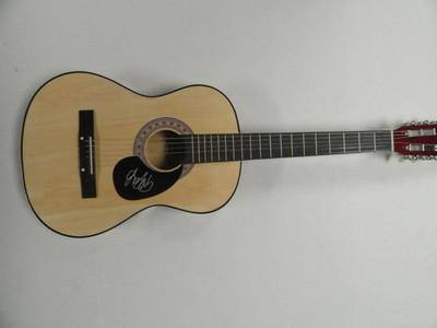 Valerie Poxleitner Signed Full Size  Natural Acoustic Guitar Lights Exact Proof
