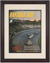 Framed 8 1/2''  x 11'' 6th Annual 1964 Daytona 500 Program Print - Mounted Memories