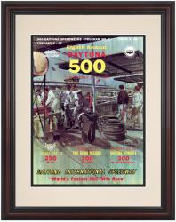 Framed 8 1/2''  x 11'' 8th Annual 1966 Daytona 500 Program Print - Mounted Memories