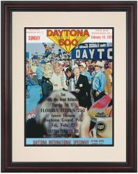 "Framed 8 1/2"" x 11"" 13th Annual 1971 Daytona 500 Program Print - Mounted Memories"