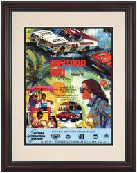 "Framed 8 1/2"" x 11"" 15th Annual 1973 Daytona 500 Program Print - Mounted Memories"