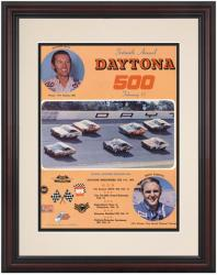 "Framed 8 1/2"" x 11"" 16th Annual 1974 Daytona 500 Program Print - Mounted Memories"