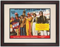 "Framed 8 1/2"" x 11"" 20th Annual 1978 Daytona 500 Program Print - Mounted Memories"