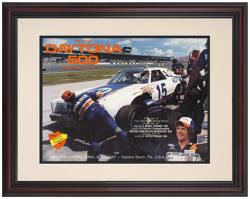 "Framed 8 1/2"" x 11"" 21st Annual 1979 Daytona 500 Program Print"