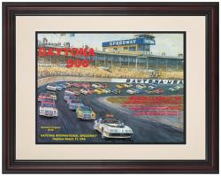 "Framed 8 1/2"" x 11"" 23rd Annual 1981 Daytona 500 Program Print"