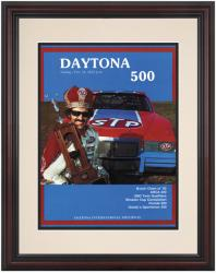 "Framed 8 1/2"" x 11"" 24th Annual 1982 Daytona 500 Program Print - Mounted Memories"