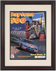 "Framed 8 1/2"" x 11"" 29th Annual 1987 Daytona 500 Program Print - Mounted Memories"
