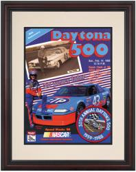 "Framed 8 1/2"" x 11"" 30th Annual 1988 Daytona 500 Program Print - Mounted Memories"