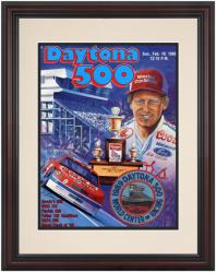 Framed 8 1/2''  x 11'' 31st Annual 1989 Daytona 500 Program Print - Mounted Memories