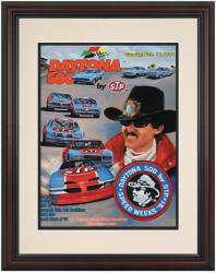 Framed 8 1/2''  x 11'' 33rd Annual 1991 Daytona 500 Program Print - Mounted Memories