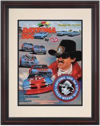 """Framed 8 1/2""""  x 11"""" 33rd Annual 1991 Daytona 500 Program Print"""