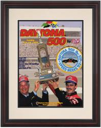 Framed 8 1/2''  x 11'' 35th Annual 1993 Daytona 500 Program Print - Mounted Memories