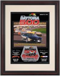 Framed 8 1/2''  x 11'' 38th Annual 1996 Daytona 500 Program Print - Mounted Memories
