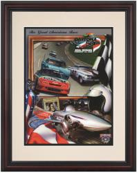 Framed 8 1/2''  x 11'' 40th Annual 1998 Daytona 500 Program Print - Mounted Memories