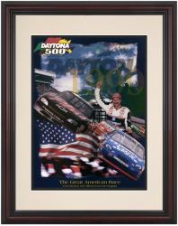 Framed 8 1/2'' x 11'' 41st Annual 1999 Daytona 500 Program Print - Mounted Memories