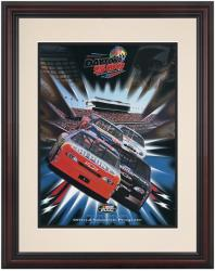 Framed 8 1/2''  x 11'' 42nd Annual 2000 Daytona 500 Program Print - Mounted Memories