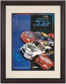 """Framed 8 1/2""""  x 11"""" 43rd Annual 2001 Daytona 500 Program Print"""