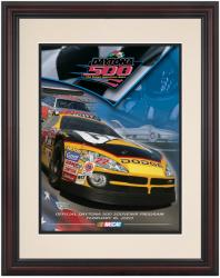 Framed 8 1/2''  x 11'' 45th Annual 2003 Daytona 500 Program Print - Mounted Memories