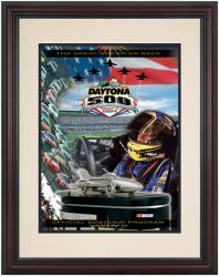 Framed 8.5'' x 11'' 46th Annual 2004 Daytona 500 Program Print - Mounted Memories