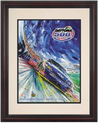 Framed 8 1/2''  x 11'' 49th Annual 2007 Daytona 500 Program Print - Mounted Memories